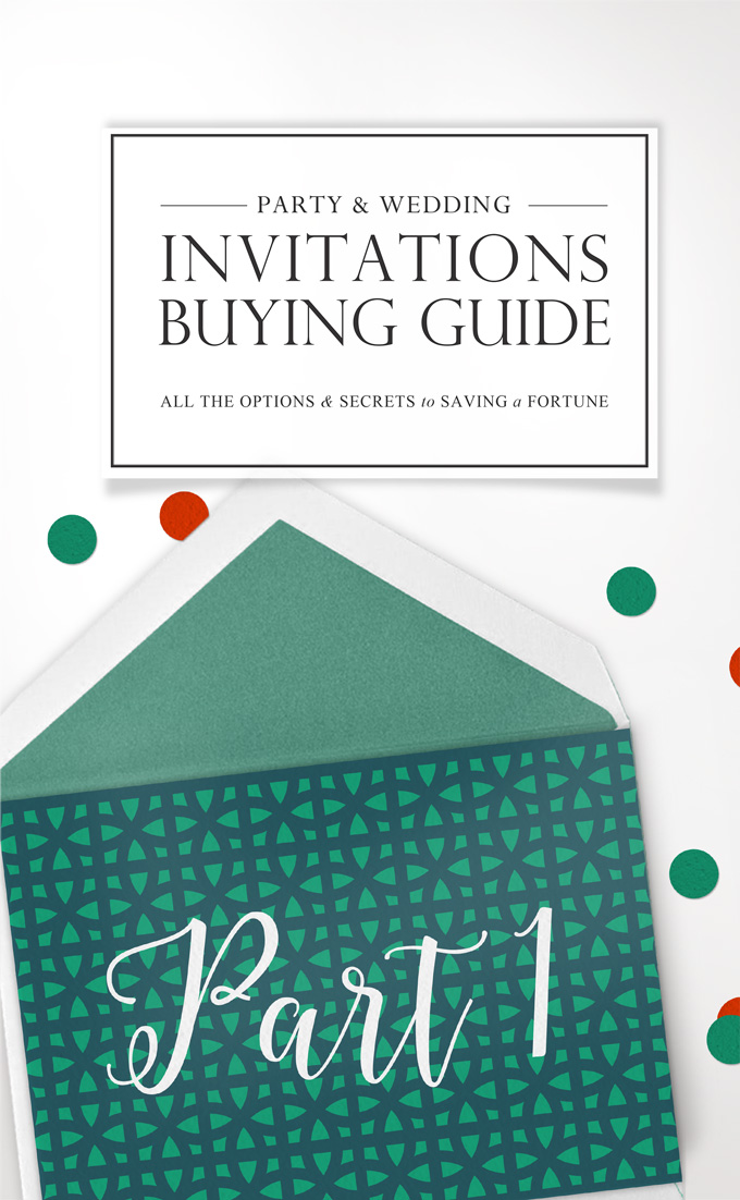 Invitation Buying Guide to Saving a Small Fortune